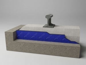 Over concrete slab sleeper pad