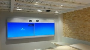 Phonotrack on office wall and ceiling